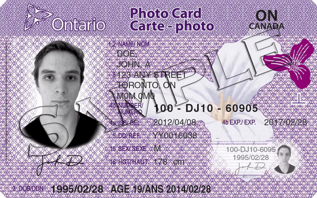 Ontario Photo Card – Quem precisa?
