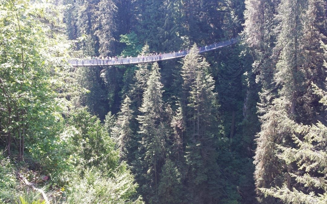 """Capilano Suspension Bridge Park""… de tirar o fôlego!"